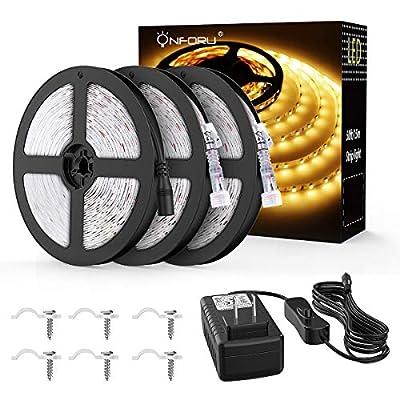 Onfrou 50ft Waterproof LED Strip Light Kit