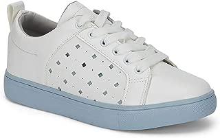 Ceriz Women's Haven Blaze White & Blue Sneakers