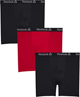 Reebok Men's Big and Tall Athletic Performance Boxer Briefs (3 Pack)