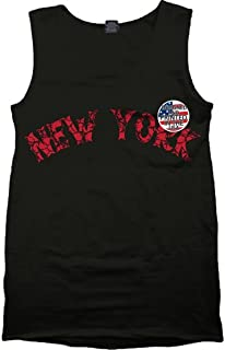 New York NY Tank Top Gym Workout Muscle T Shirt Urban Wear Cement Retro XI 11 4