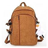 A1-Brave Mochila Mujer, Color sólido Corduroy Mujer Mochila Mochila antirrobo Bolsas de la Escuela for Adolescentes Bolsa de Hombro de Viaje (Color : Brown, Size : 29cm x12cm x40cm)