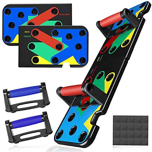 TOGOTTAI Tabla para flexiones 13 en 1, plegable, con asas cómodas, ideal para entrenamiento pr...