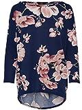 Only onlELCOS 4/5 AOP Top JRS Noos Blusa, Multicolor (Night Sky AOP:Flower Print), 38 (Talla del Fabricante: Medium) para Mujer