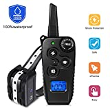 VINSIC Dog Training Collar with Remote, Rechargeable Shock Collar w/ 3 Training Modes [Beep, Vibration, Shock], 100% Waterproof, Up to 1640ft Super Remote Range
