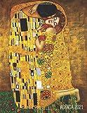 Gustav Klimt Agenda Annuale 2021: Il Bacio | Jugendstil Art Nouveau | Diario Settimanale per Organizzare Giorni Occupati | Arte d'Oro | Pianificatore Giornaliera 2021