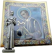 St Saint Gerard Mini Gift Set Tiny Statue & Prayer Card 1 Inch Long