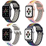 Hatolove iWatch Watch Correa, Compatible con Apple Watch 38mm 40mm 42mm 44mm Correas, Transpirable Correa de Silicona Suave Correa Deportiva Repuesto Compatible con iWatch Serie SE 6 5 4 3 2 1