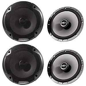 (2) Pairs Alpine Spe-6000 6.5″ 2 Way Pair of Car Speakers Totalling 960 Watts Peak / 240 Watts RMS