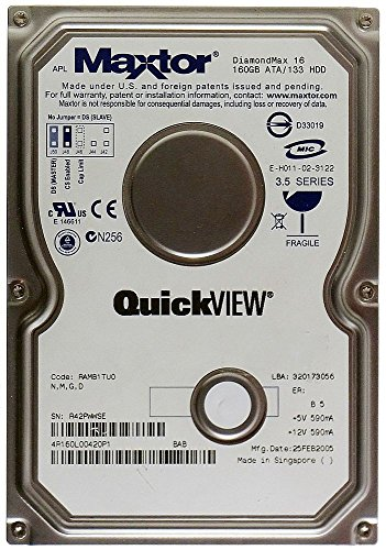 160GB HDD Maxtor DiamondMax Plus 9 ATA/133 YAR41BW0 IDE ID13383