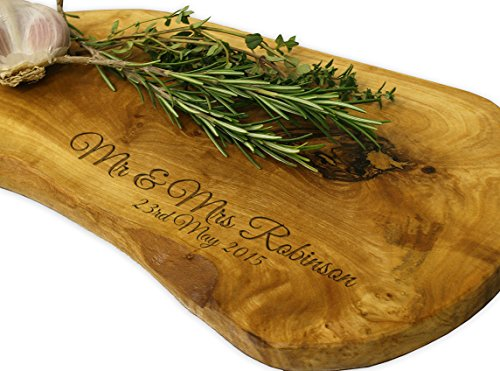 Personalised Olive Wood Chopping Board - 35cm