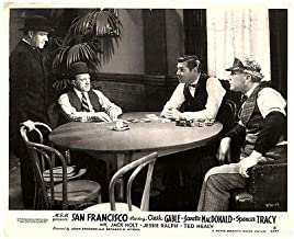 SAN Francisco Original British Lobby Card Clark Gable Spencer Tracy Poker Game