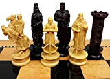 HPL Medieval Times Crusades King Richard Lionheart Knight Chess Men Set Antique Color- NO Board