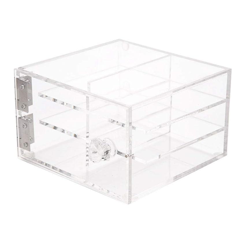 平和な取り扱い解放6層偽まつげ収納ボックス、透明な化粧品化粧品ケース、化粧品オーガナイザーケース、ハンドル付き偽造まつげ収納ボックスをグラフト