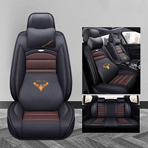 LUCK Asiento de coche cubierta 5 Asientos del sistema completo de coche universal de la cubierta de asiento de cuero PU coche delantero / trasero cojines del asiento 5 mm transpirable esponja dentro y