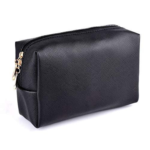 Yi-xir Bolsa de maquillaje favorita para mujer, organizador con cremallera, bolsa de maquillaje para brochas de viaje, mochila diagonal (color: negro, tamaño: A)