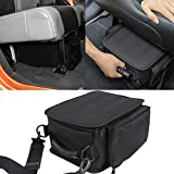 Under Seat Organizer for 2007-2018 2019 2020 2021 2022 Jeep Wrangler JK JL JLU Sports Rubicon Gladiator JT Backseat Rear Under Seat Storage Bags Black Portable Storage Tool Kits Pocket