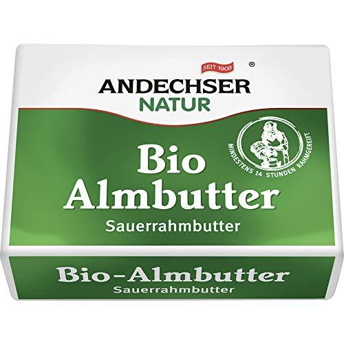 Andechser Natur Bio Bio Almbutter Sauerrahm (6 x 250 gr)