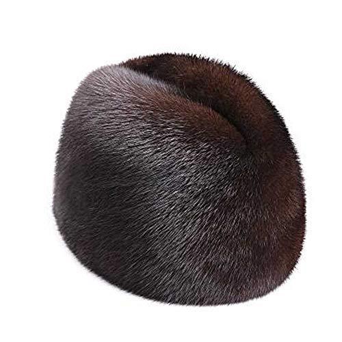 Hombres Mujeres Sombrero de Piel de visón Nuevos Hombres de ModaPiel de visón Invierno cálido Sombrero/Gorra Sombrero Plano Helado