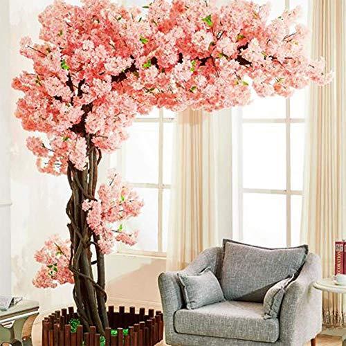 LYWIR Künstliche Kirschblüten Japanische Kirschblüte Rosa/Hellrosa Gefälschte Sakura Blume Indoor Outdoor Home Office Party Office