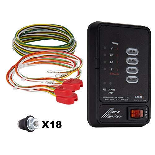 RV Tank Sensor Monitor Panel M21 | KIB Replacement | Includes Wire Harness Kit | Level Sensor | Fresh Water or Holding Tank Level Sensor (Black)