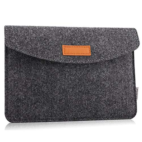ZETIAN Slim Wool Felt Tablet Sleeve Bag For ipad Air 4 10.9 2 3 4 5 Case Pro 9.7 10.5 11 2018 2020 Cover For Huawei Samsung Lenovo tab-dark gray_14 inches