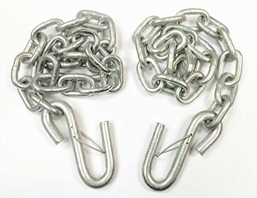 """LIBRA 2 New 5/16"""" x 30"""" Grade 30 Trailer Safety Chains w/S Hook & Safety Latch - 25006"""