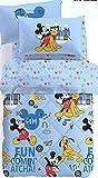 Caleffi Trapunta da Una Piazza e Mezza Peso Invernale Originale Disney Art. Mickey Mouse 75949 in Puro Cotone cm. 215X260
