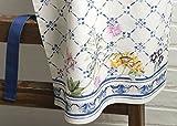 Maison d' Hermine Faïence 100% Baumwolle 1-teilige Küchenschürze mit verstellbarem Hals und versteckter Mitteltasche, Langen Krawatten für Frauen/Männer | Küchenchef | Kochen(70cm x 85cm) - 4