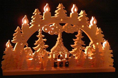 SchwibboLa Original erzgebirgischer Marken schwibbogen lichterbogen 50 x 32 cm s50-1_42, 1