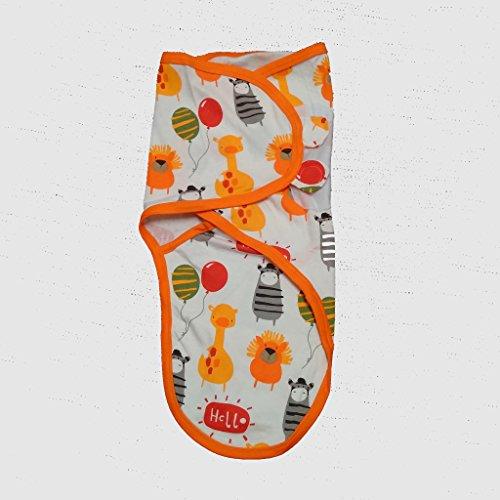 Cobertor de envolver banana para bebês, de pequeno a médio, 3,2 a 6,3 kg. Conjunto de envolver bebê ajustável de algodão macio, pequeno a médio, design de animal da Amazon