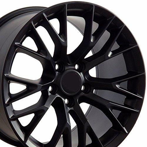 OE Wheels LLC 17 Inch Fits Chevy Camaro Corvette Pontiac Firebird C7 Z06 Style CV22 Satin Black 17x9.5 Rim Hollander 5734