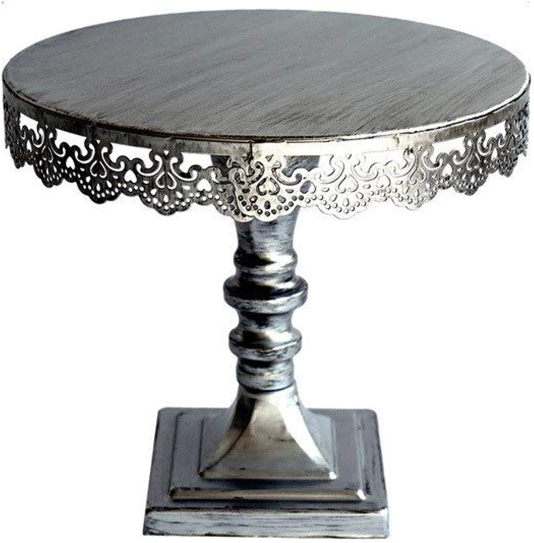 C-J-Xin Tableau de dessert rétro, plateau de dégustation de pain de présentoir de plateau de dégustation de parcravate de jardinage 25-30CM dans le diamètre plat de fruits (Taille   25  25  22CM)