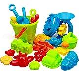 swonuk Juguetes de Playa 25 Piezas, Juguetes de Arena para niños con...
