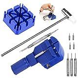 VieVogue 11 Pcs Montre Outil de Réparation Kit Outil Chasse Goupille Ajustable Compatible avec Montres