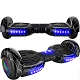 Emaxusa Hoverboard Self Balancing Scooter 6.5' Two-Wheel Hoverboards with Bluetooth Speaker and LED Lights Electric Scooter for Kids and Adult, UL Safety Certified (Black)