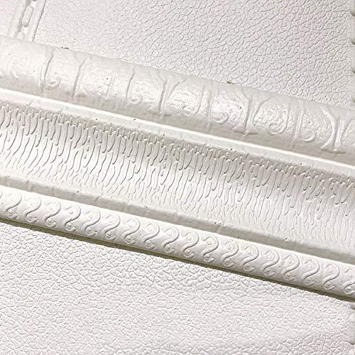 """Auto-adhésif 3D étanche Autocollant Papier peint Bordure, Peel et coller le défilement Mur couvrant Conseil Skirting Sticker Pied Ligne pour décoration de la maison, salle de bain, cuisine 3.1""""x93"""""""