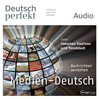 Deutsch perfekt Audio - Die Mediensprache. 11/2013 cover art
