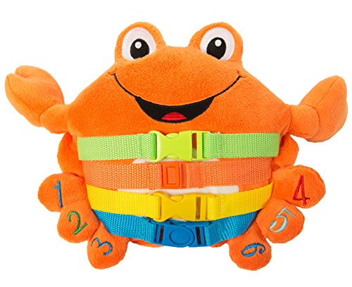 Buckle Toys 'Barney Crab - Toddler Early Learning Basic Life Skills Children's Plush Travel Activity