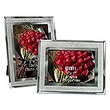 UMI. Essentials 7x5 Sparkle Glass Photo Frames, 2 Pack