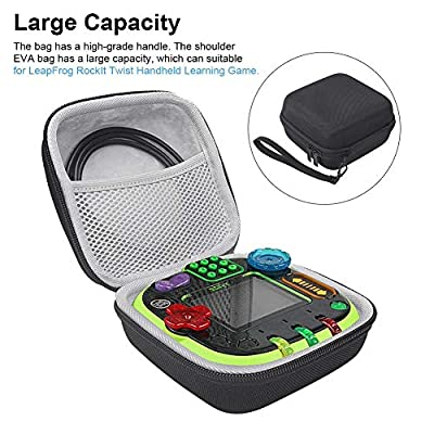 Hard Carrying Case for Leapfrog Rockit Twist Handheld Learning Game, Large Capacity Storage Bag All-Around Zippered with High-Grade Handle by BDSONG