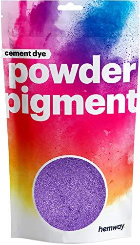 Hemway Grout Dye Pigment Concrete Colour Powder Render Mortar Pointing Powdered Brick Toner (3.6oz / 100g, Metallic Purple Violet)