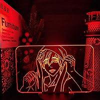 自由! Iwatobi Swim Club Makoto Tachibana 3D LEDナイトライトアニメランプ用寝室LEDテーブルランプクリスマスプレゼント-接する