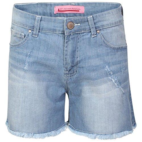 Générique Neuf Femmes Clair & Jeans délavé foncé Lavage Short décontracté UK Taille 8-16 - Délavage Léger, 8