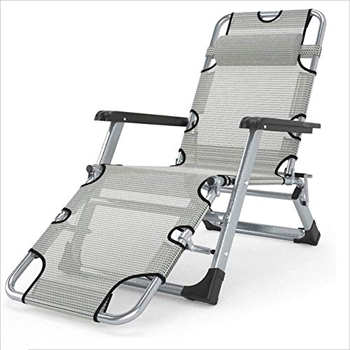 GenericBrands Silla reclinable/Plegable con reposabrazos jardín Patio Exterior portátil reclinable Silla de diseñador Informal Moderna de Aluminio