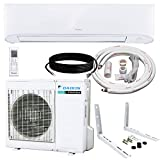 Daikin 12,000 BTU 17 SEER Wall-Mounted Ductless Mini-Split Inverter Air Conditioner Heat Pump System 15 Ft. Installation Kit & Wall Bracket (230 Volt), 12, 000 BTU