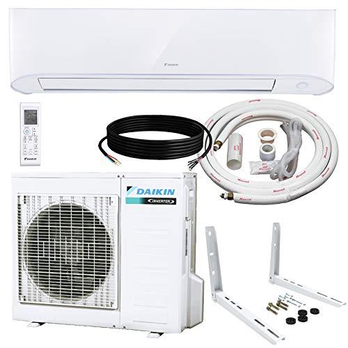 Daikin 12,000 BTU 17 SEER Wall-Mounted Ductless Mini-Split Inverter Air Conditioner Heat Pump System 15 Ft. Installation Kit & Wall Bracket (230 Volt) 10 Year Limited Warranty