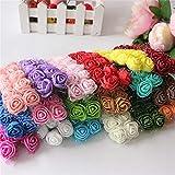 D'Lush designs Delush Design Artificial Foam Flowers Jewellery Decor Craft Flowers -(Pack of 72 pcs, Assorted Multi)