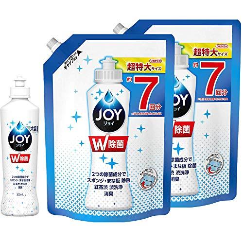 【まとめ買い】 除菌 ジョイ JOY コンパクト 食器用洗剤 本体 大容量 ボトル 300mL + 詰め替え 超特大 960mL × 2個