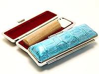 「楓(かえで)印鑑15.0mm×60mmニューカラークロコケース(ブルー)付き」 横彫り 吉相体