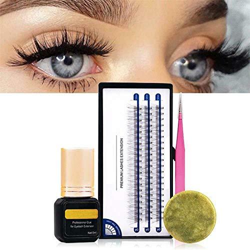 70-Day Self-Grafting Eyelashes Set,3D False Eyelashes, Eyelash Extension Practice Kit for Beginners, 4 Pieces Eyelash Extension Set